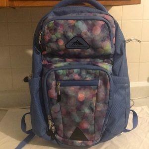 New High Sierra book bag.